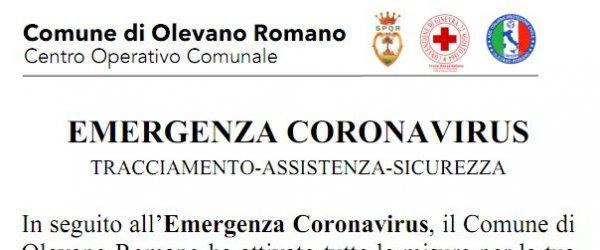 COMUNICAZIONI DEL SINDACO - EMERGENZA COVID-19