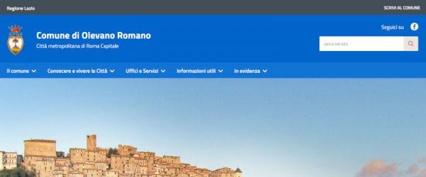 On-line il nuovo sito web del Comune di Olevano Romano