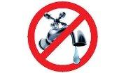 Sospensione fornitura acqua