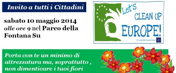 Il Comune ha aderito al primo European Clean Up Day e alla campagna Let's Clean up Europe, lanciata dalla Commissione Europea. Appuntamento ai Campetti sabato 10 maggio 2014 alle ore 9