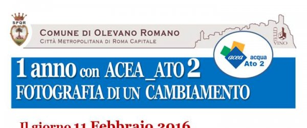Fotografia di un cambiamento. Invito all'incontro con il gestore ACEA ATO2 ad un anno dalla presa in carico del servizio idrico