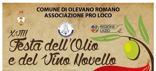 Tutto pronto per la XVIII^ edizione della Festa dell'Olio e del Vino Novello