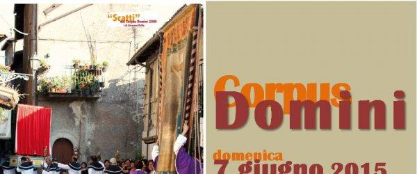 Processione del Corpus Domini. Domenica 7 giugno 2015 alle ore 18