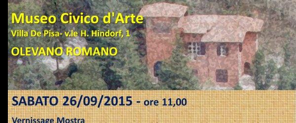 sabato 26/09/2015 ore 11,00  Vernissage - Mostra al Museo Civico d'Arte Olevano e la Danimarca, 200 anni di Storia dell'Arte