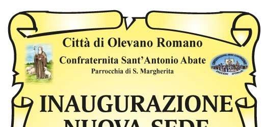 Il 13 luglio 2014 la Confraternita di Sant'Antonio Abate inaugura la nuova sede. Partecipiamo tutti