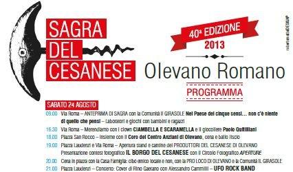 Dal 24 agosto parte la quarantesima edizione della Sagra del Cesanese