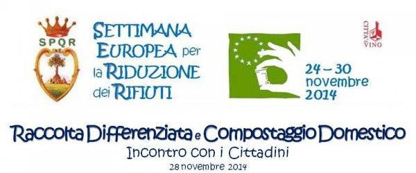Il 28 novembre interessante incontro su raccolta differenziata e compostaggio domestico