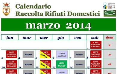 Calendario raccolta differenziata marzo 2014: un gesto naturale da ripetere ogni giorno, sempre meglio