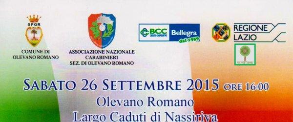 Sabato 26 settembre cerimonia in ricordo delle vittime di Nassiriya
